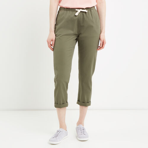 Roots-Women Pants-Woodland Jogger-Dusty Olive-A