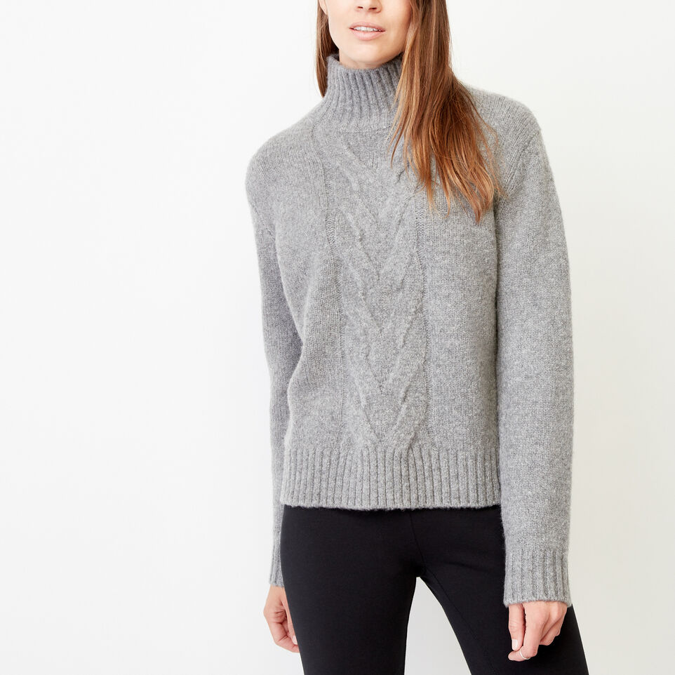 Roots-Women Our Favourite New Arrivals-Nita Cable Sweater-Grey Mix-C
