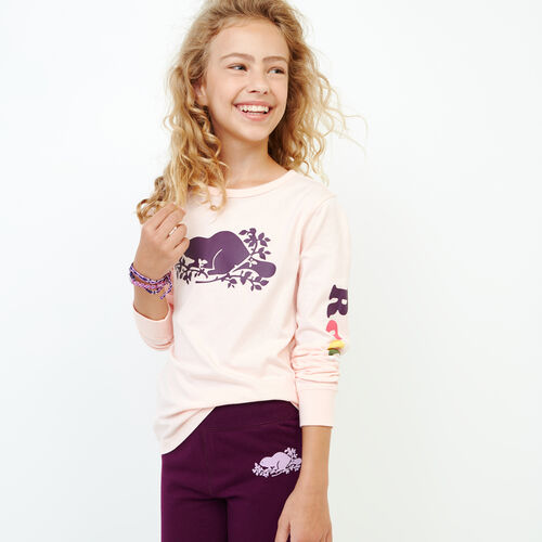 Roots-Kids Our Favourite New Arrivals-Girls Roots Remix T-shirt-English Rose-A