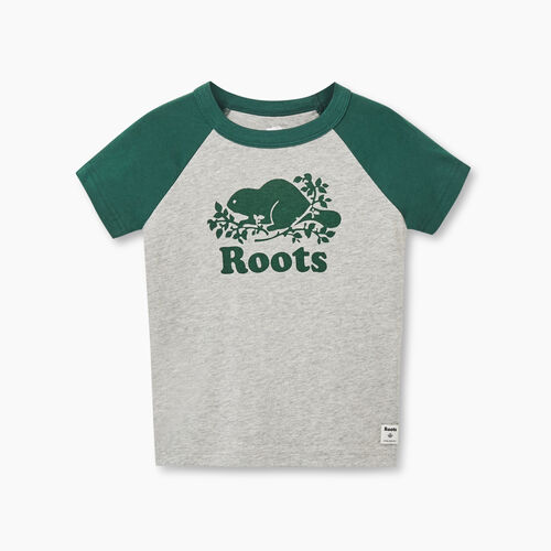 Roots-Kids Toddler Boys-Toddler Cooper Beaver Raglan T-shirt-Hunter Green-A