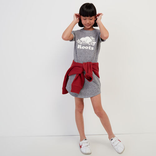 Roots-Kids New Arrivals-Girls Edith Dress-Salt & Pepper-A