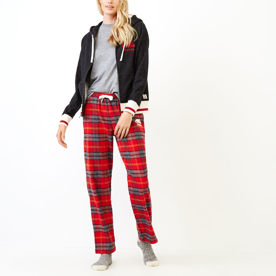 Roots-Women New Arrivals-Inglenook Lounge Pant-Cabin Red-B