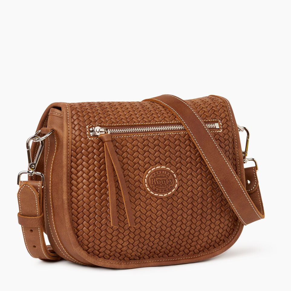 Roots-Women Leather-English Saddle Woven-Natural-C