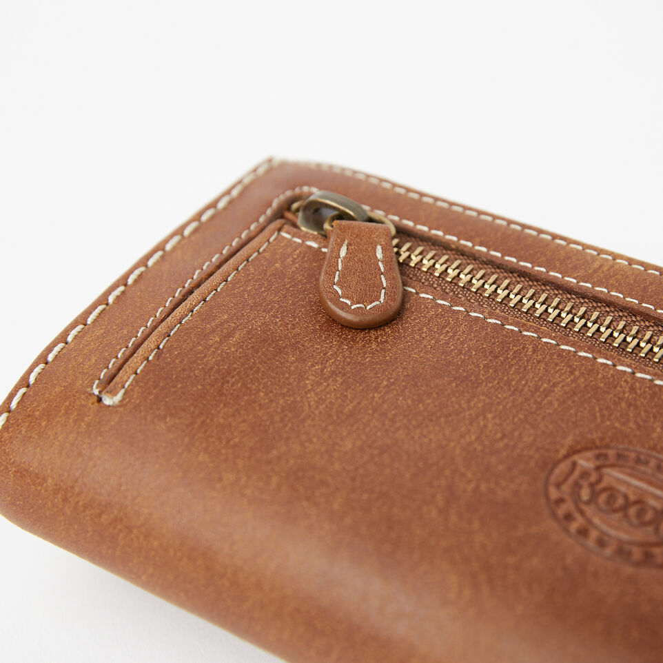 Roots-Women Wallets-Large Chequebook Clutch-Natural-E