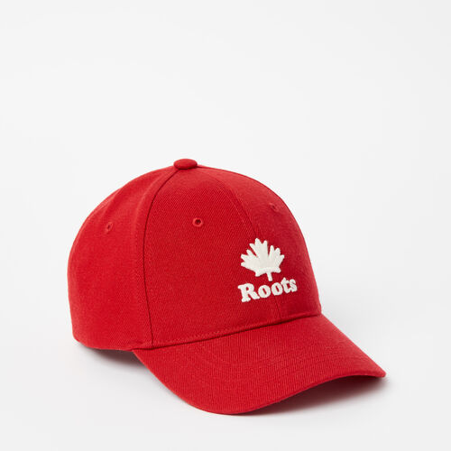 Roots-Kids Accessories-Toddler Modern Leaf Baseball Cap-Sage Red-A