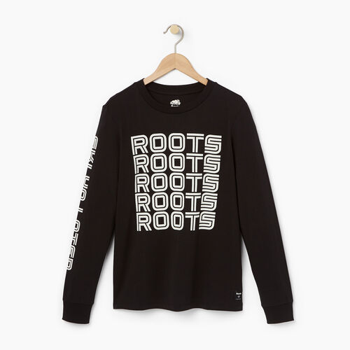 Roots-Winter Sale 30-40% Off - View All-Womens Skiers Long Sleeve T-shirt-Black-A