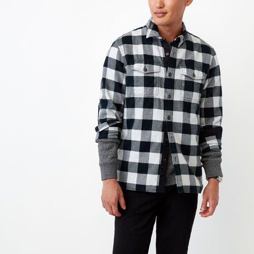 Roots-Men Our Favourite New Arrivals-Park Plaid Shirt-Snowy Ice Mix-A