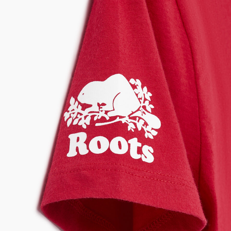 Roots-Women Our Favourite New Arrivals-Womens Blazon T-shirt-Sage Red-E