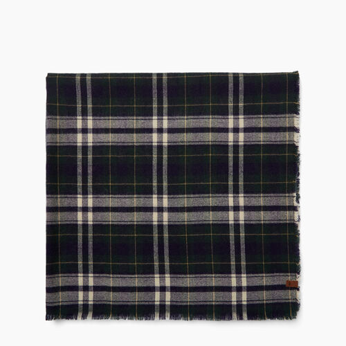 Roots-Women Accessories-Varsity Plaid Scarf-Camp Green-A