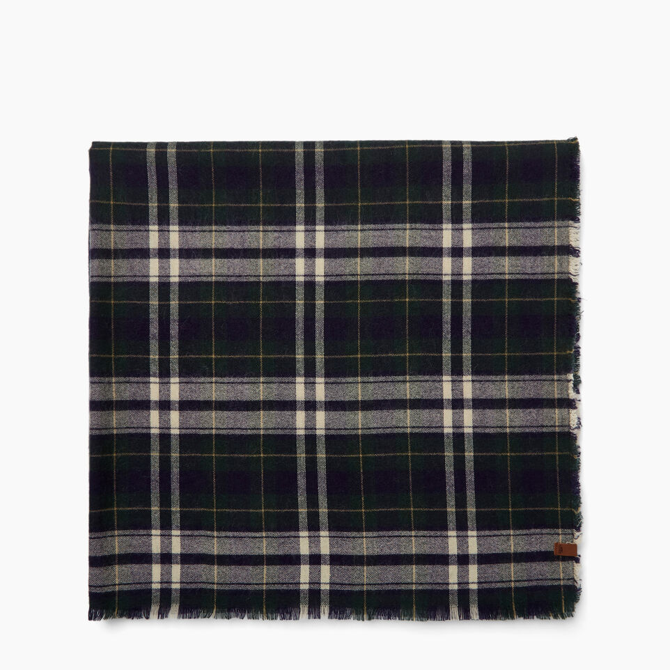 bcaaaf8cd7cd2 Roots-Women Scarves & Wraps-Varsity Plaid Scarf-Camp Green- ...