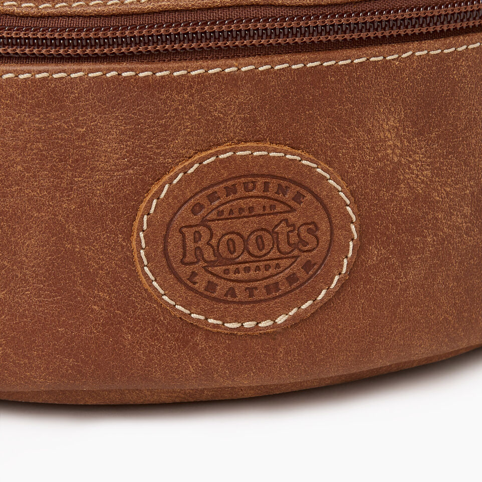 Roots-Leather Our Favourite New Arrivals-Small Fanny Pack-Natural-E