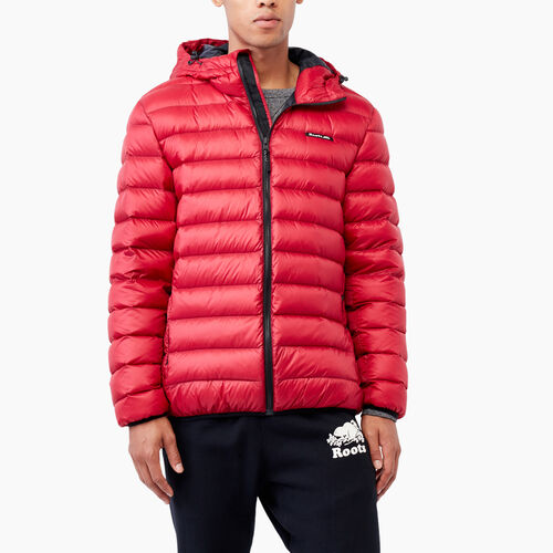 Roots-Men Outerwear-Roots Packable Down Jacket-Lodge Red-A