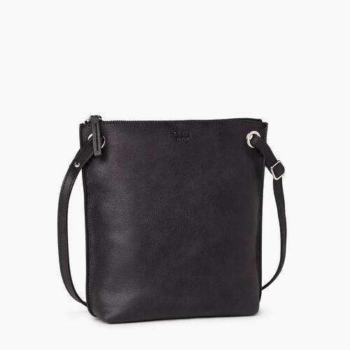 Roots-Leather Crossbody-Festival Bag-Jet Black-A