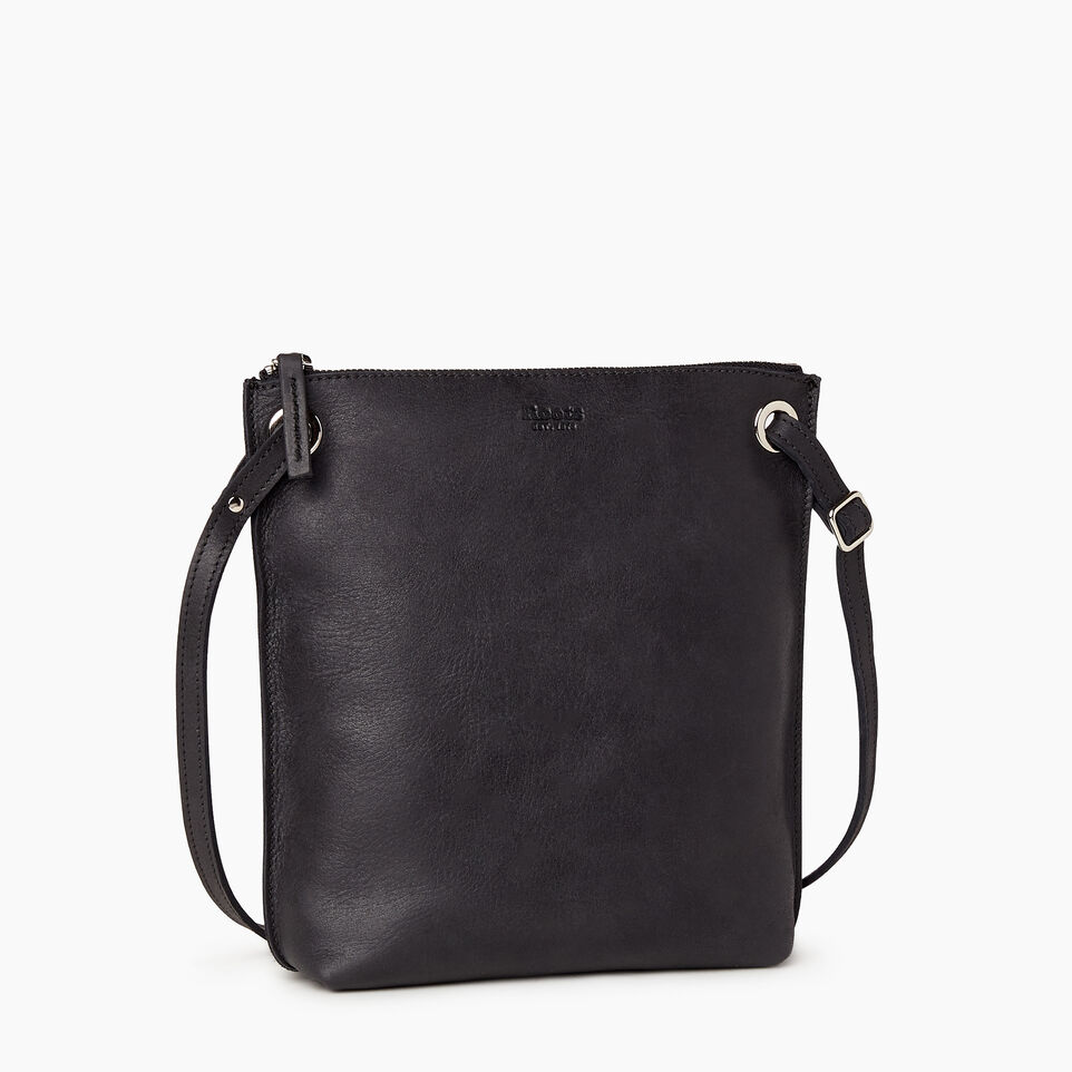 Roots-Leather  Handcrafted By Us Handbags-Festival Bag-Jet Black-A