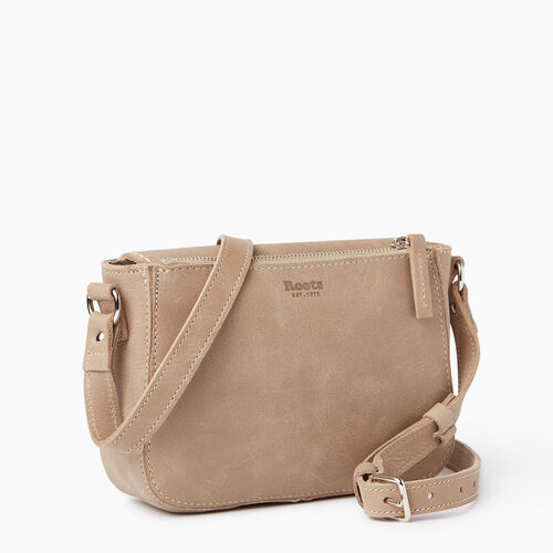 Roots-Leather Our Favourite New Arrivals-Riverdale Crossbody-Sand-C