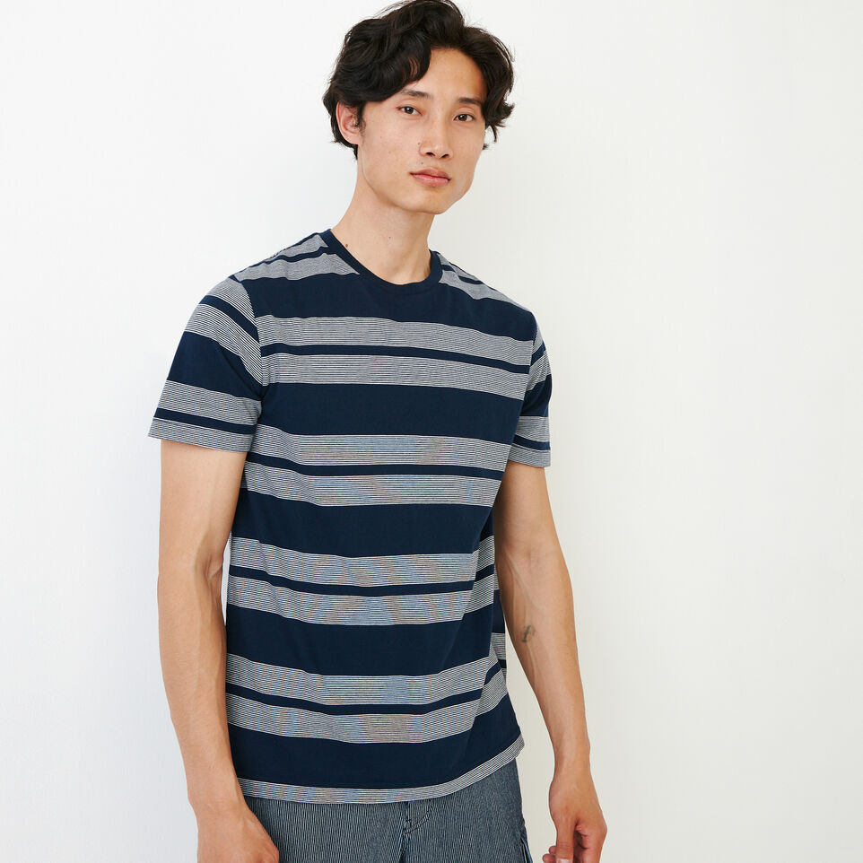 Roots-Men Our Favourite New Arrivals-Mercer Striped T-shirt-Navy Blazer-A