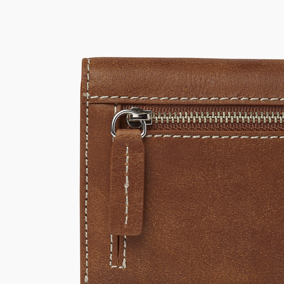 Roots-Leather  Handcrafted By Us Our Favourite New Arrivals-Riverdale Slim Wallet-Natural-E