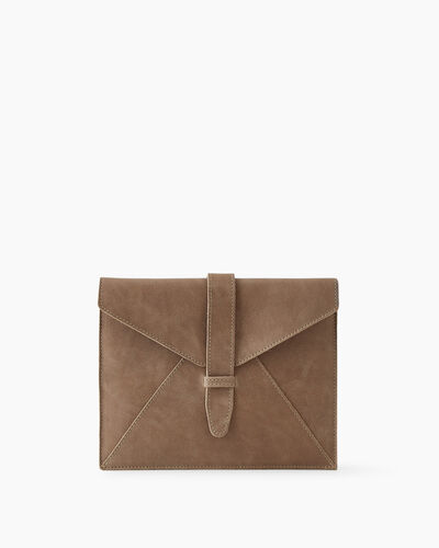 Roots-Leather New Arrivals-Tablet Sleeve Tribe-Sand-A