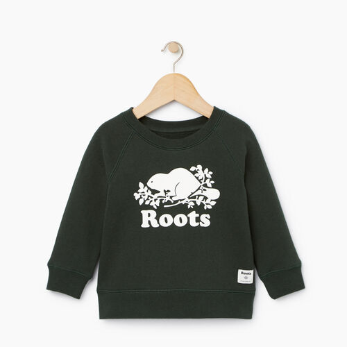 Roots-Kids Our Favourite New Arrivals-Baby Original Crewneck Sweatshirt-Park Green-A