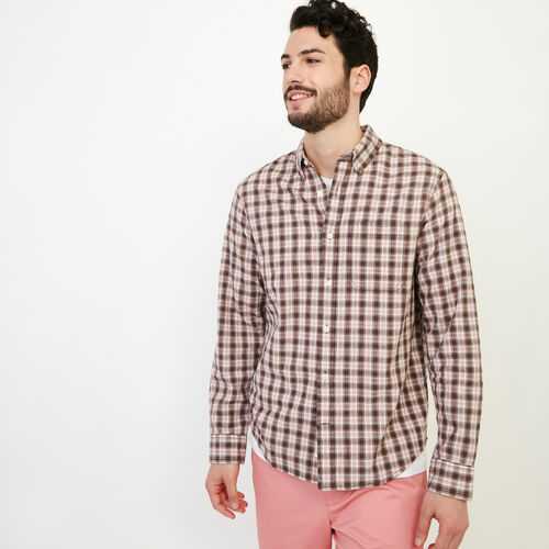 Roots-Men Shirts & Polos-Windermere Long Sleeve Shirt-Sunset Apricot-A
