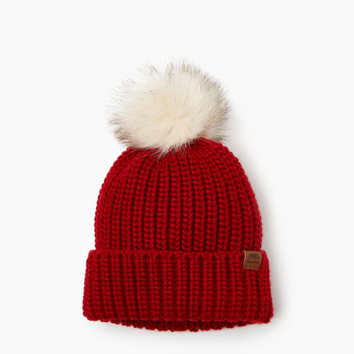 Roots-Kids Accessories-Kids Girl Olivia Toque-Cabin Red-A
