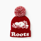 Roots-Women Categories-Cooper Beaver Pom Pom Toque-Cabin Red-B