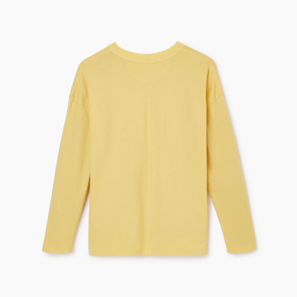 Roots-New For March Rba Collection-Womens RBA Long Sleeve T-shirt-Canary Yellow-B