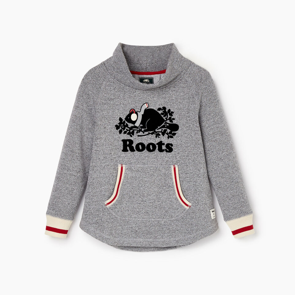 Roots-Kids Our Favourite New Arrivals-Girls Buddy Cozy Fleece Pullover-Salt & Pepper-B