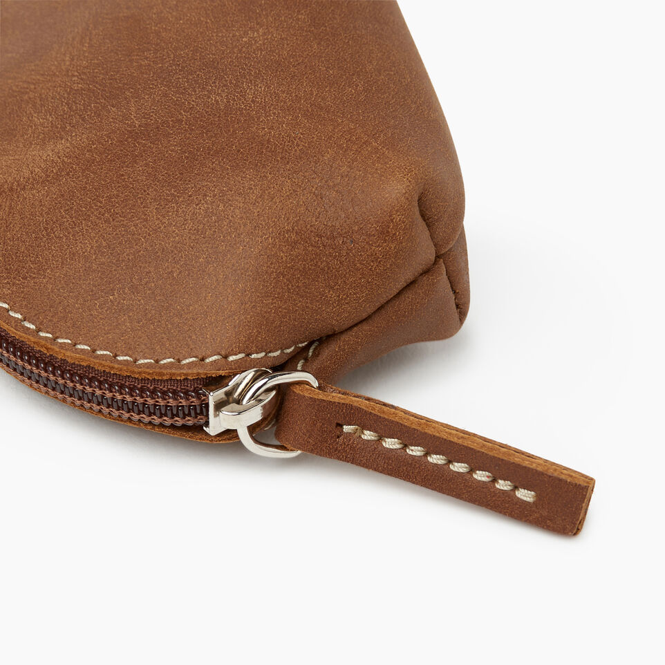Roots-Women Leather Accessories-Small Euro Pouch-Natural-D