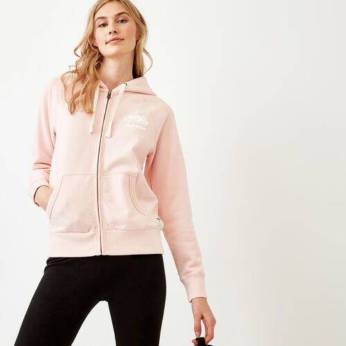Roots-Women Bestsellers-Original Full Zip Hoody-English Rose-A