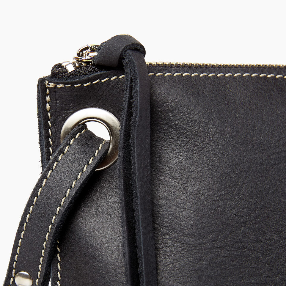Roots-Leather  Handcrafted By Us Handbags-Festival Bag Tribe-Jet Black-E