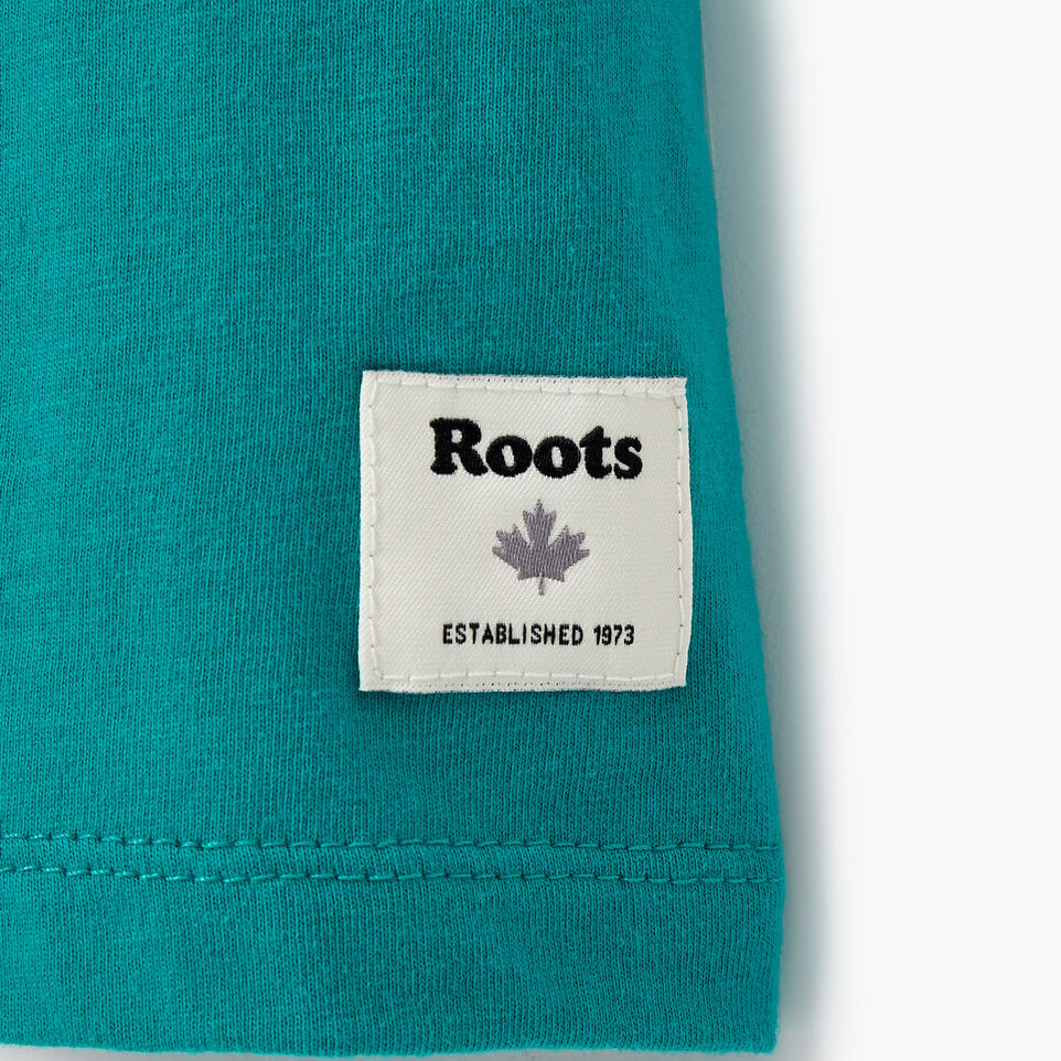 Roots-New For August Women-Womens Cooper Beaver T-shirt-Dynasty Turquoise-C