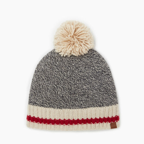 Roots-Gifts Accessory Sets-Roots Cabin Pom Pom Toque-Grey Oat Mix-A