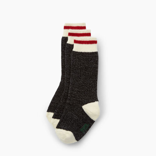 Roots-Kids Accessories-Kids Cabin Sock 3 Pack-Black-A