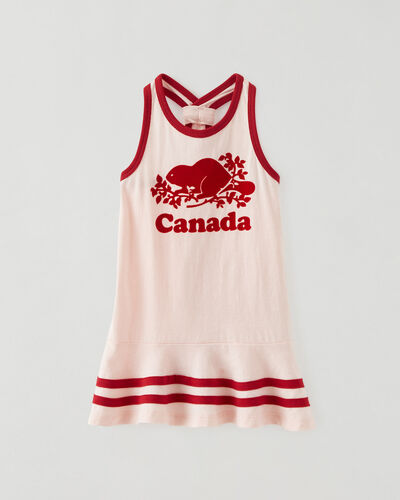 Roots-Kids Dresses-Baby Canada Tank Dress-English Rose-A