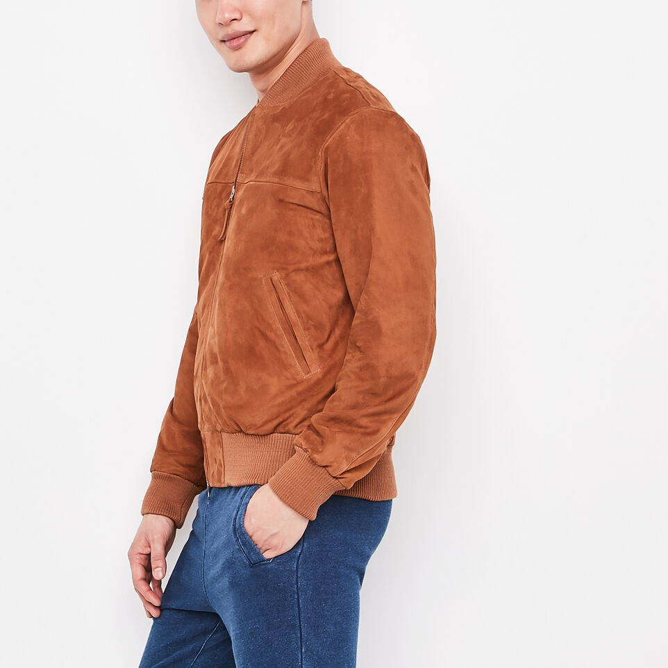 Roots-undefined-Blouson Jacket Suede-undefined-D
