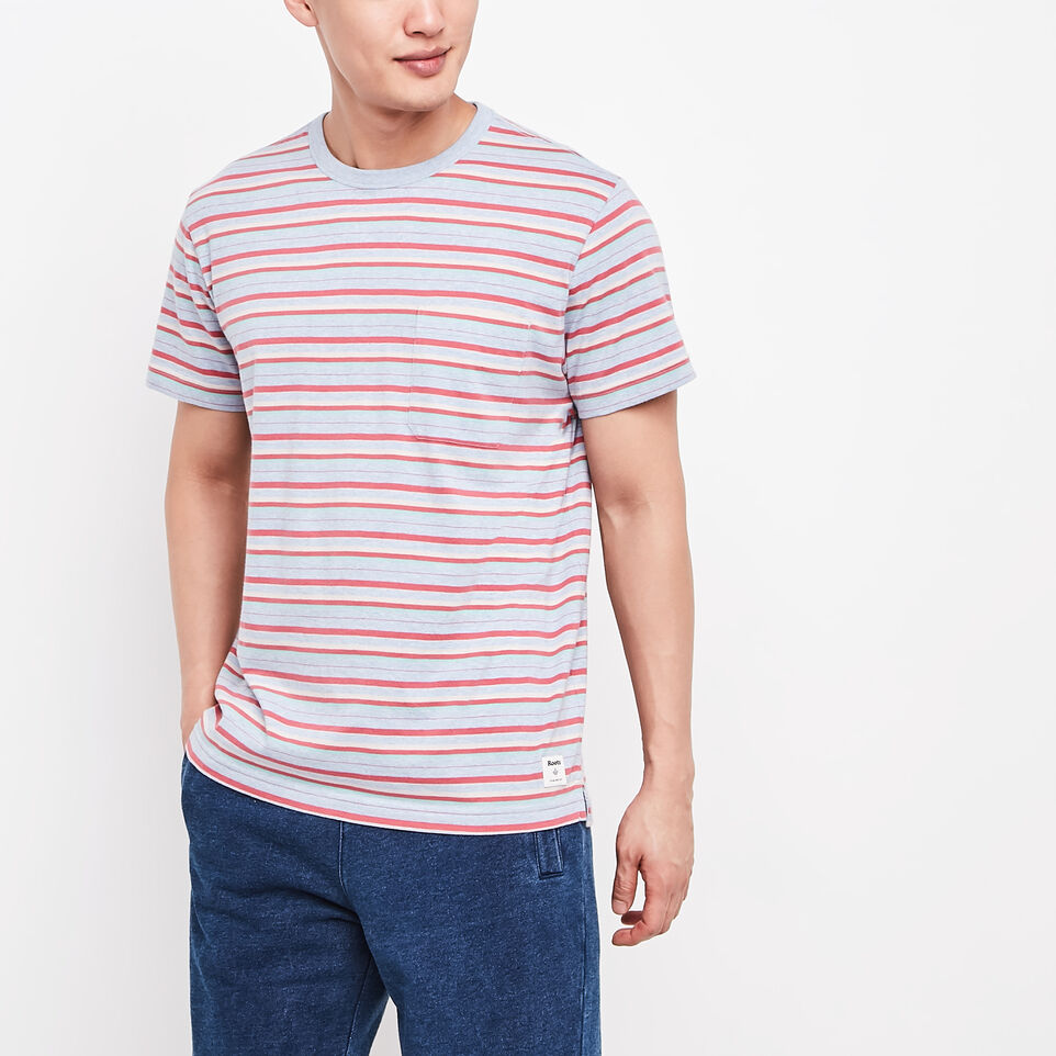 Roots-Caspian Striped Pocket T-shirt