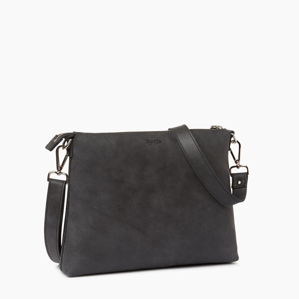 Roots-Leather Handbags-Richmond Crossbody-Jet Black-C