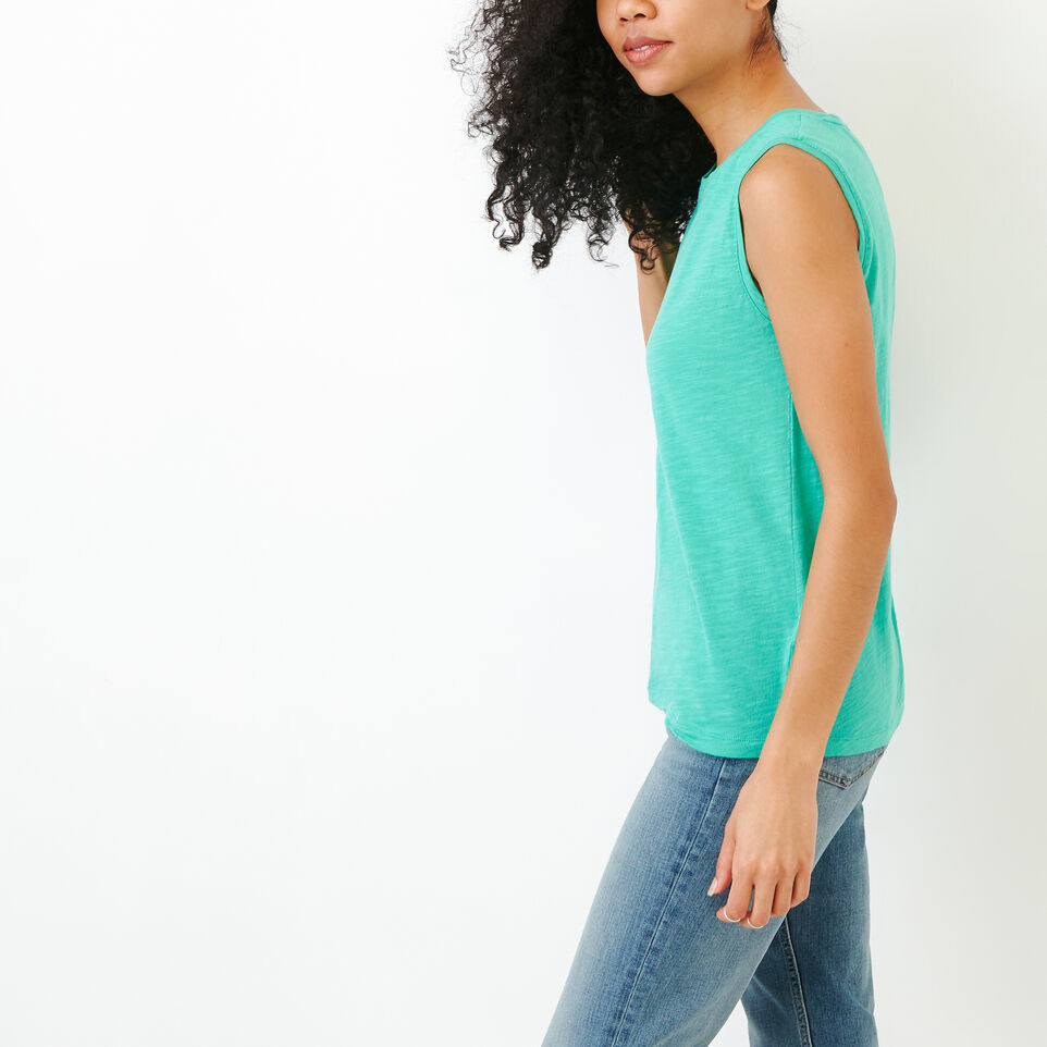 Roots-Women Our Favourite New Arrivals-Lorne Muscle Tank Top-Sea Green-C