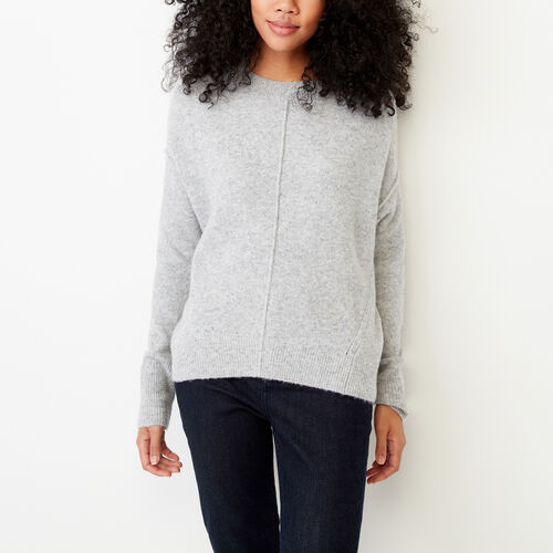 Roots-Winter Sale Women-Nadina Crew Sweater-Grey Mix-A