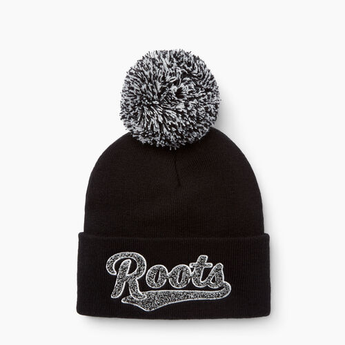 Roots-Women Hats-Avery Pom Pom Toque-Black-A 02c10f72ee69