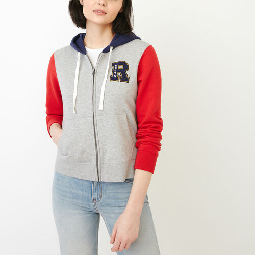 Roots-Clearance Women-Varsity Chic Hoody-Grey Mix-A