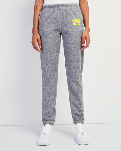 Roots-New For This Month Women-Original Sweatpant Neon Yellow Logo-Salt & Pepper-A