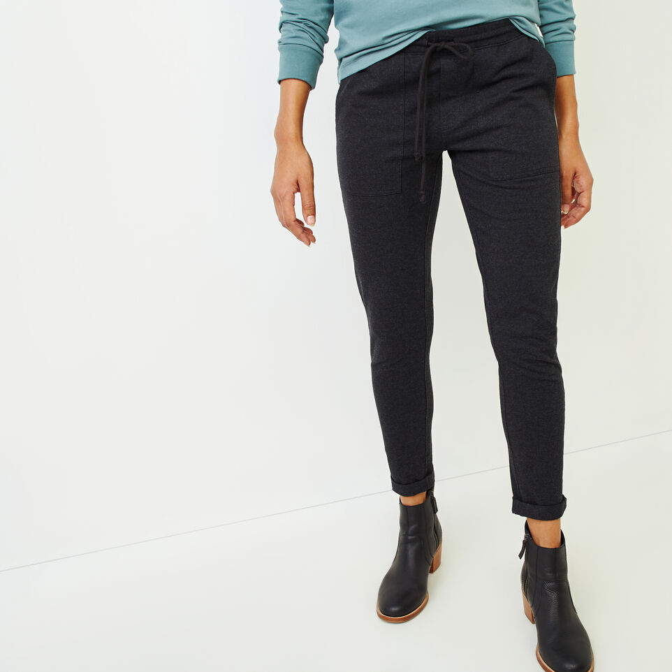 Roots-Women Bottoms-Kelby Jogger Pant-Black Mix-A