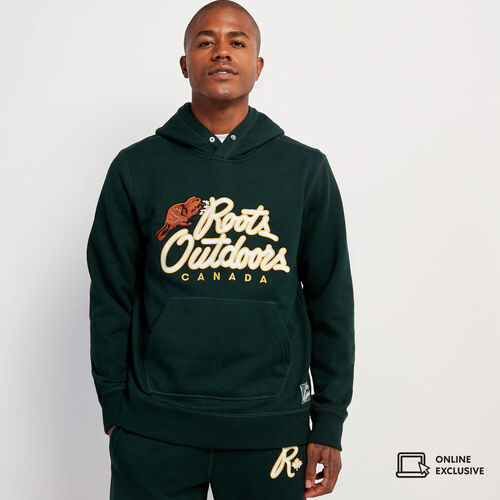 Roots-Sweats Sweatshirts & Hoodies-Roots Outdoors Hoody-Varsity Green Pepper-A