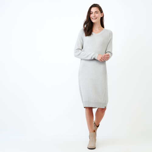 Roots-Women Categories-Kemano Sweater Dress-Grey Mix-A