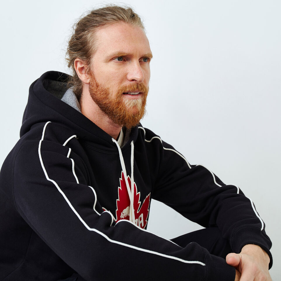 Roots-New For July Men-Mens Canada Hoody-Black-E