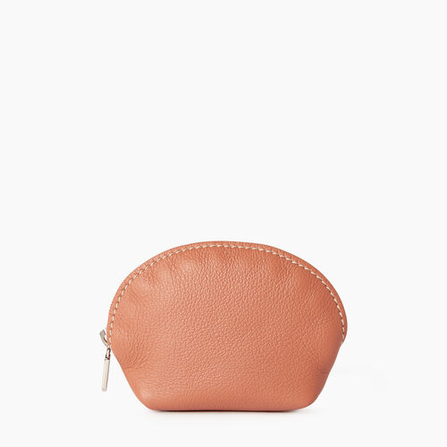 Roots-Leather Categories-Small Euro Pouch-Canyon Rose-A