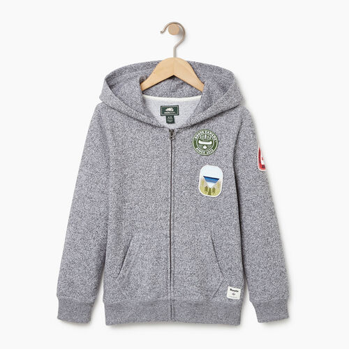 Roots-Kids Boys-Boys Patches Full Zip Hoody-Salt & Pepper-A