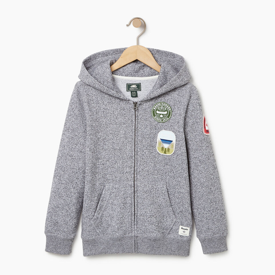 Roots-Kids Our Favourite New Arrivals-Boys Patches Full Zip Hoody-Salt & Pepper-A